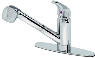 Kitchen Faucet, Pull-Out Sprayer, Chrome Finish