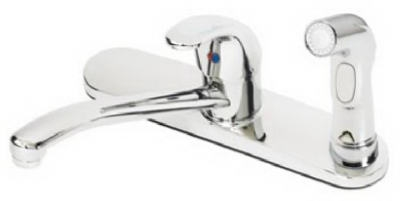 Kitchen Faucet With Spray, Single Lever, Chrome