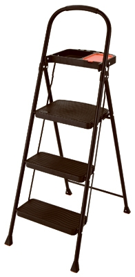 Project Step Stool With Tray, 3-Step, Steel