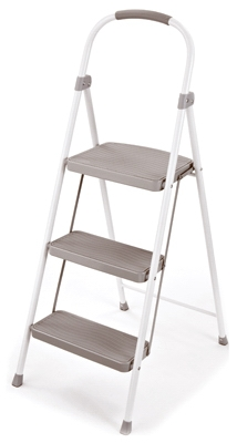 Step Stool, 3-Step, Steel