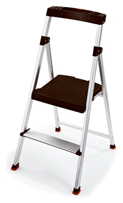 Step Stool, 2-Step, Aluminum
