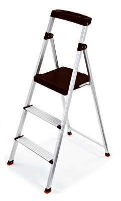 Step Stool, 3-Step, Aluminum