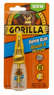 Super Glue, Brush & Nozzle, 10-gm.