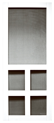 Vermont Series Screen Door, White Vinyl, 35 x 79.5-In.
