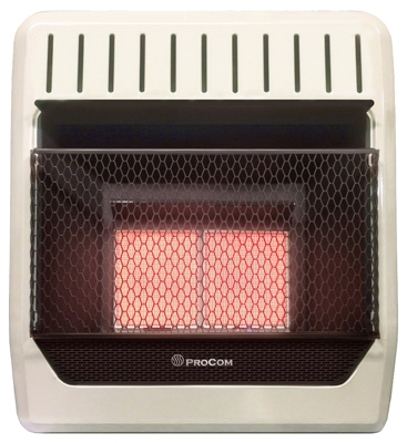 Infrared Wall Heater, Dual Fuel, Vent-Free, 18,000-BTU