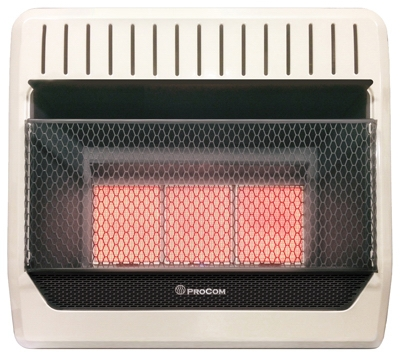 Infrared Wall Heater, Dual Fuel, Vent-Free, 28,000-BTU
