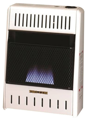 Blue Flame Gas Wall Heater, Dual Fuel, Vent-Free, 10,000-BTU