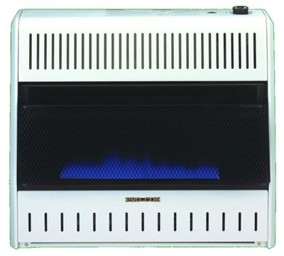 Blue Flame Gas Wall Heater, Dual Fuel, Vent-Free, 30,000-BTU