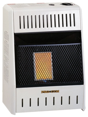 Infrared Wall Heater, LP Gas, Vent-Free, 6,000-BTU