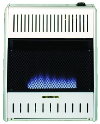 Blue Flame Gas Wall Heater, Dual Fuel, Vent-Free, 20,000-BTU
