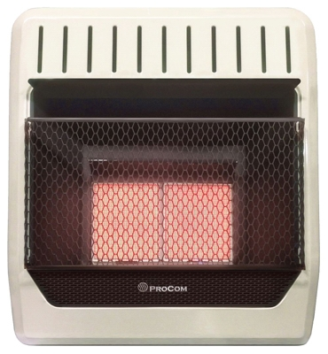 Infrared Wall Heater, LP Gas, Vent-Free, 18,000-BTU