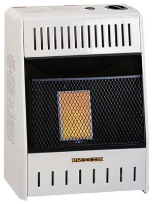 Infrared Wall Heater, Natural Gas, Vent-Free, 6,000-BTU