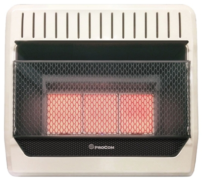 Infrared Wall Heater, LP Gas, Vent-Free, 28,000-BTU
