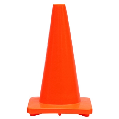 Traffic Cone, Orange PVC, 18-In.
