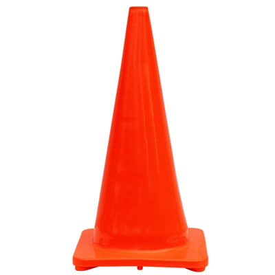 Traffic Cone, Orange PVC, 28-In.