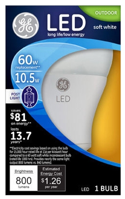 LED Outdoor Post Light Bulb, 11-Watt