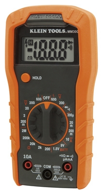 Digital Multimeter, Manual-Ranging, 600-Volts