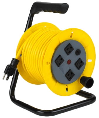 40-Ft. Wind Up Cord Reel With Tubular Steel Frame
