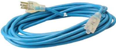 Extension Cord, 16/3 SJTW Blue,  25-Ft.