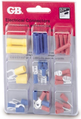 Crimp-On Terminal Connector Assortment, Insulated, 40-Pc.