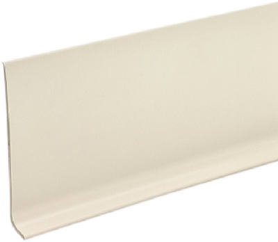 4-Inch x 4-Ft. Almond Vinyl Wall Base
