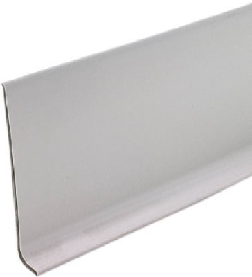 4-Inch x 4-Ft. Silver Gray Vinyl Wall Base