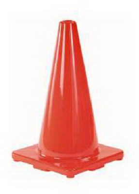 18-Inch Orange Safety Cone