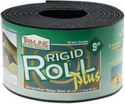 Shingle Over Ridge Vent, 9-In. x 20-Ft. Roll