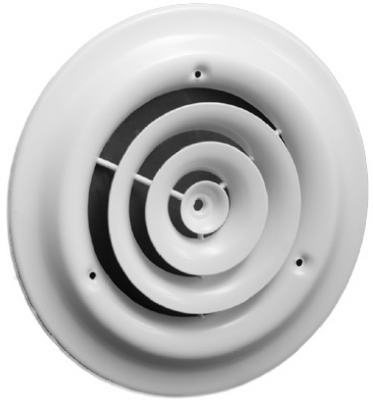 6-Inch White Round Steel Ceiling Diffuser