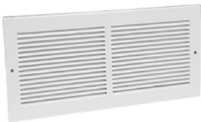 10 x 6-Inch White Sidewall Return Air Grille