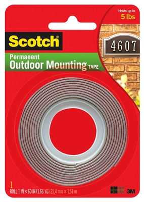 Exterior Mounting Tape, 1 x 60-In. Roll