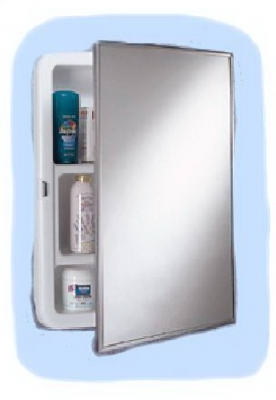 Medicine Cabinet, Stainless-Steel Frame, Swing-Door