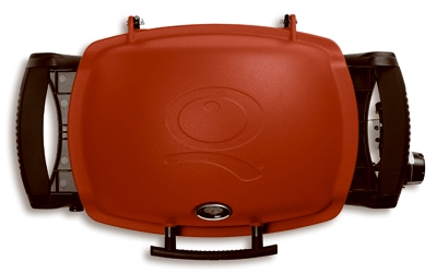 Q-1200 Portable Gas Grill, 8500 BTU, Red