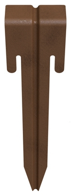 Edging Stakes, Bronze Steel, 10.5-In., 3-Pk.