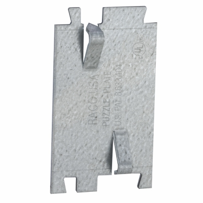 Cable Protector Plate, 2.75 x 1.5-In.