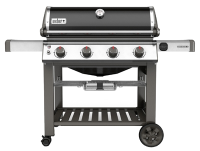 Genesis II E-410 4-Burner Natural Gas Grill, 48,000-BTU, Black