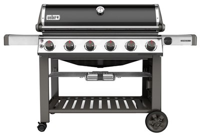 Genesis II E-610 6-Burner Natural Gas Grill, 60,000-BTU, Black