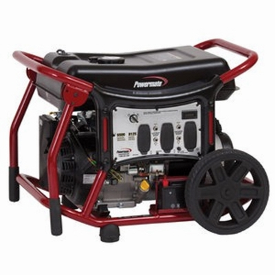 Powermate Portable Generator, Recoil/Electric Start, 6500-Watt