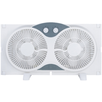 Twin Window Fan, 9-In.