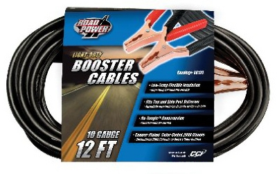 12 Foot, 10 Gauge Booster Cable