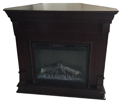 Colleen Mantle Electric Fireplace, Brown, 26-In. Firebox