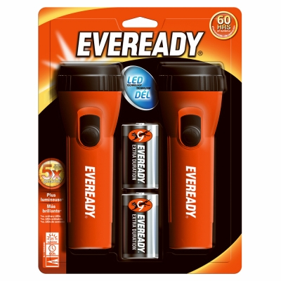 LED Economy Flashlight, 2-Pk.
