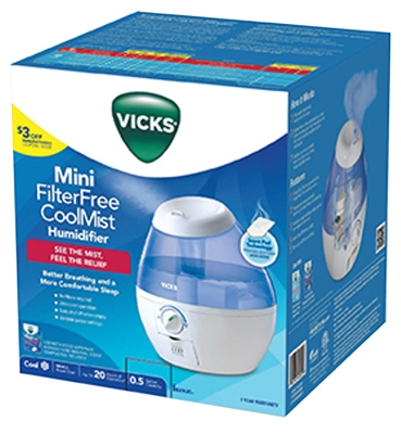 Mini Humidifier, 1/2-Gallon
