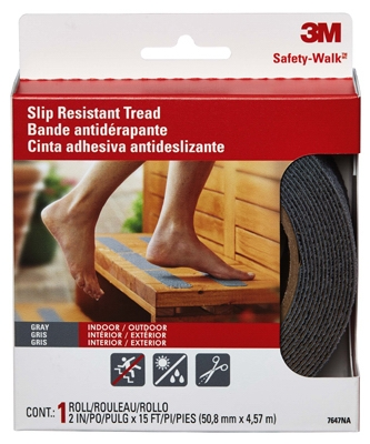 Anti-Slip Safety Tread, Gray, 2 x 180-In. Roll