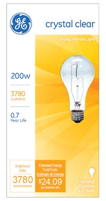 200-Watt General Purpose Light Bulb