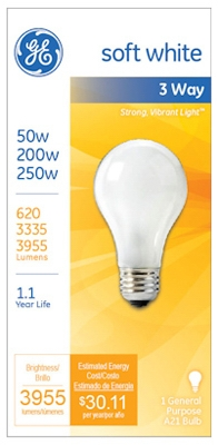 50/200/250-Watt 3-Way Soft White Light Bulb