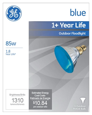 Miser Outdoor Floodlight Bulb, Blue, 85-Watt