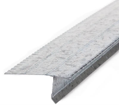 Steel Drip Edge, Galvanized, 2-7/16 x 1-In. x 10-Ft.