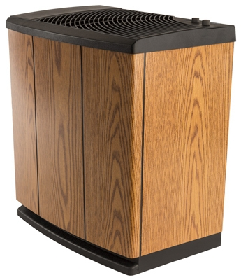 Console Evaporative Humidifier, Light Oak, 5.4-Gal. Water Capacity, Up to 3700 Sq. Ft. Coverage