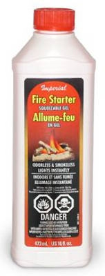 Gelled Alcohol Fire Starter, 16-oz.
